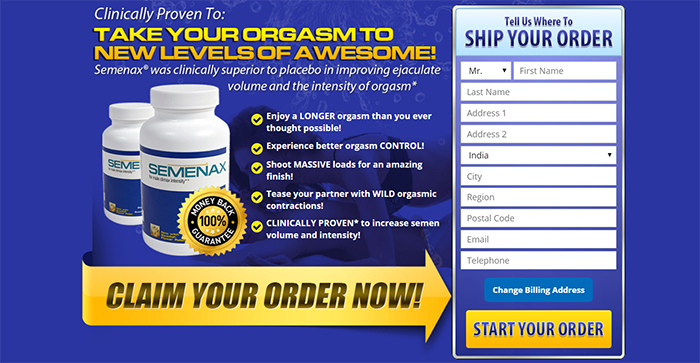 SEMENAX increase sexual potency and intensity of Orgasm