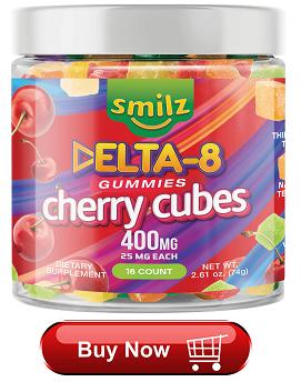 Smilz Delta 8 Gummies Cherry Cubes